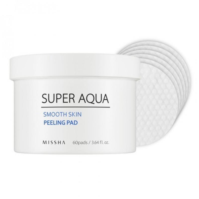 Missha Super Aqua Smooth Skin Peeling Pad, 60 pcs