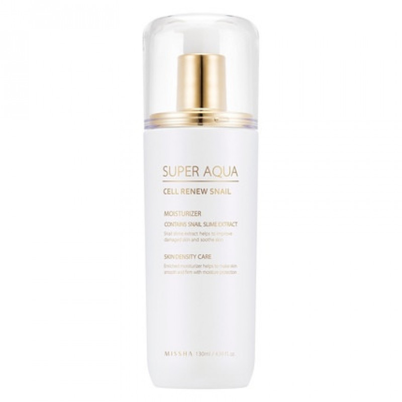 Missha Super Aqua Cell Renew Snail Essential Moisturizer, 130 ml