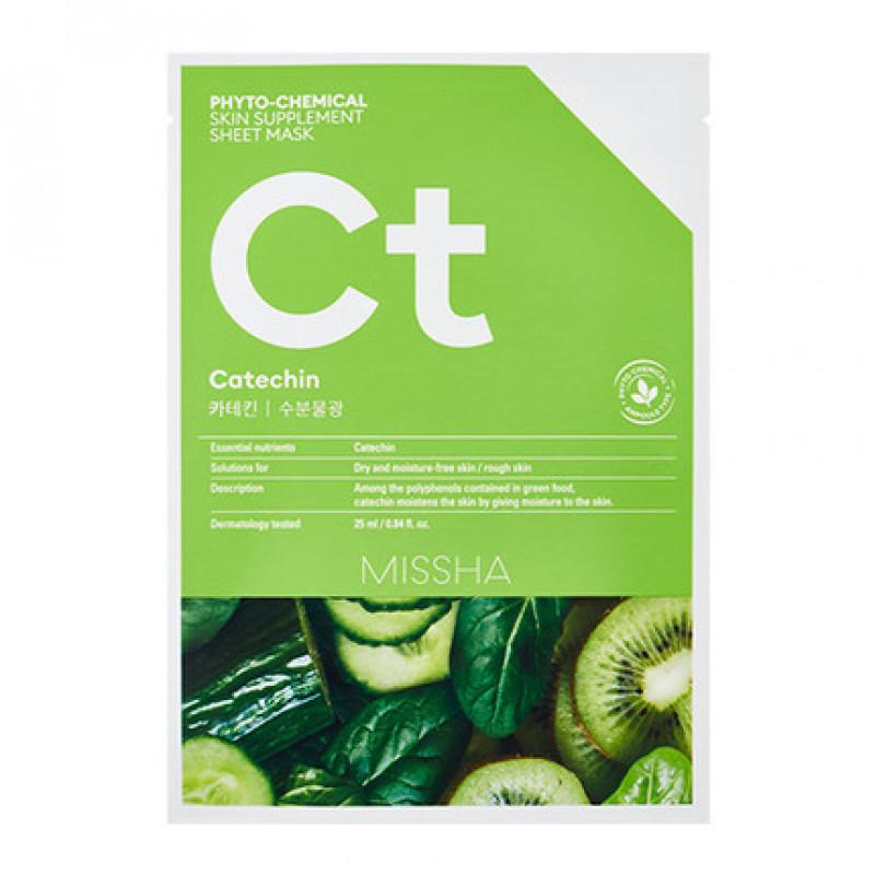 "Missha Phytochemical Skin Supplement Sheet Mask ""Catechin/Hydrating"", 25 ml"