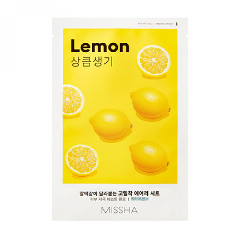 "MISSHA Airy Fit Sheet Mask ""Lemon"", 19 g"