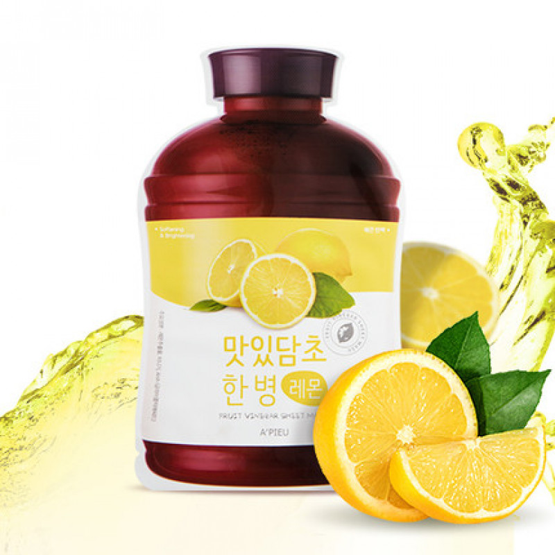 "A'pieu Fruit Vinegar Sheet Mask ""Lemon"", 20 ml"