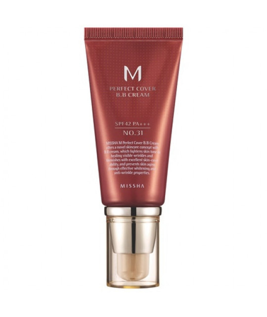 Missha M Perfect Cover BB Cream SPF42/PA+++ (No.31/Golden Beige), 50 ml