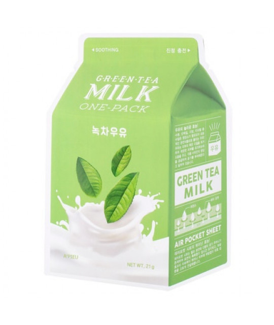 A'pieu Green Tea Milk One-Pack, 21 g