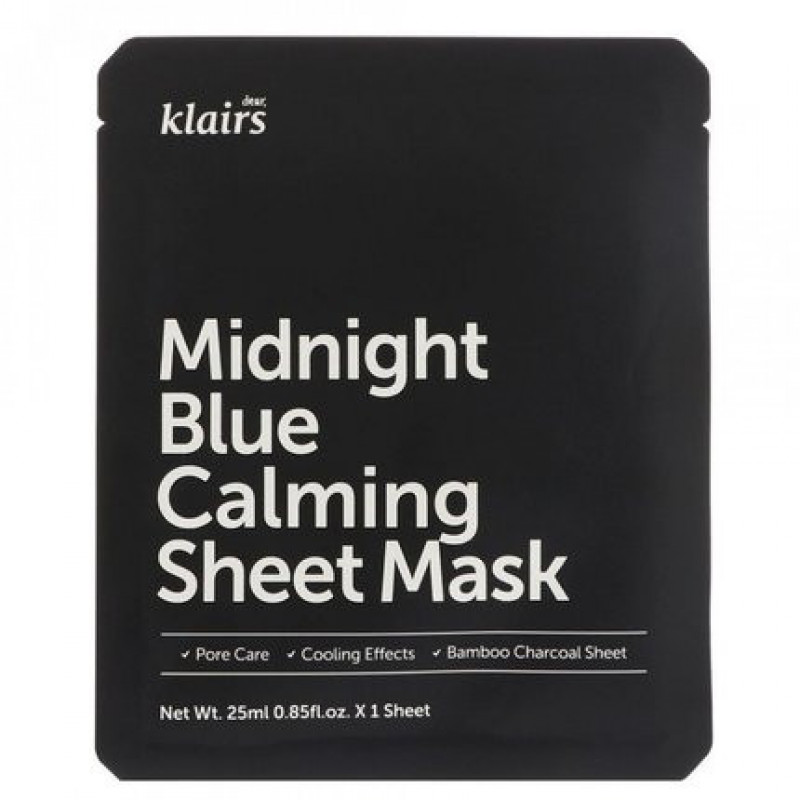 Klairs Midnight Blue Calming Sheet Mask, 25 ml