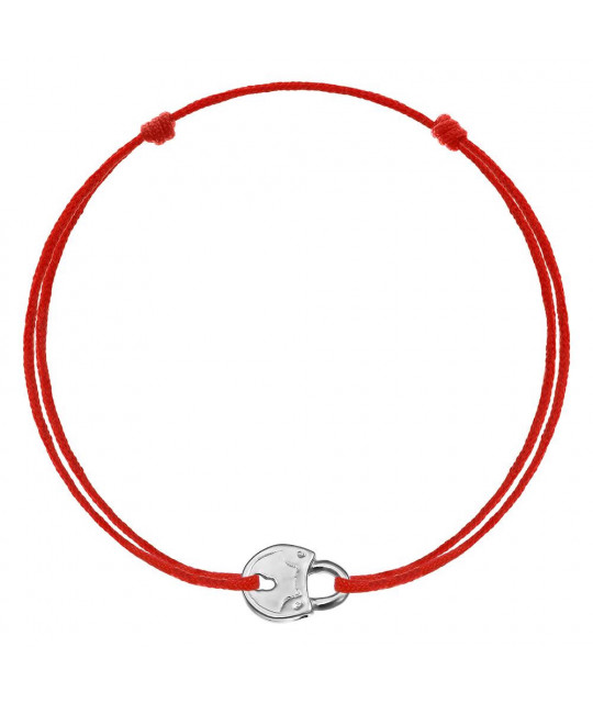 Red kabbalah Lock, Silver