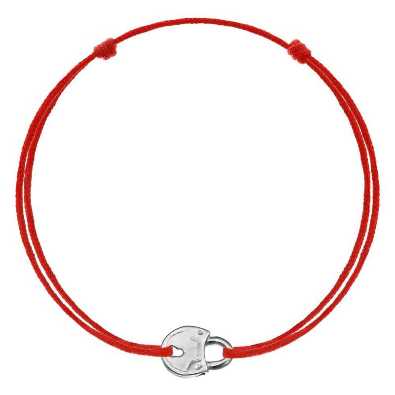 Red kabbalah Lock, Silver