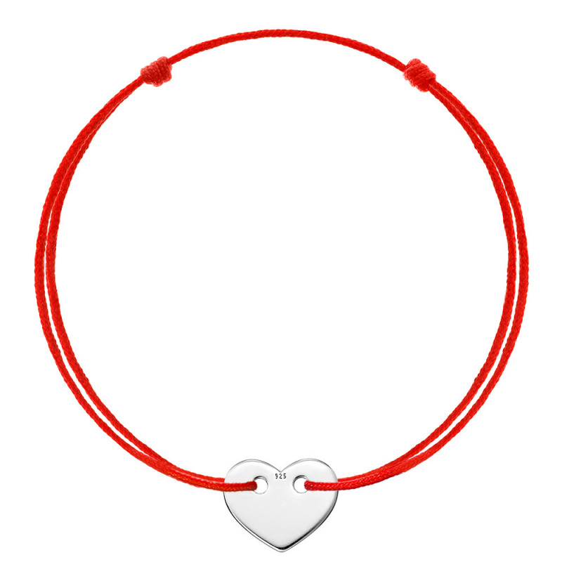 Red kabbalah Heart, Silver