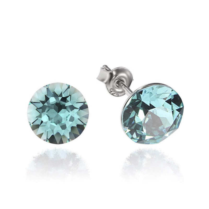 Earrings Xirius, Light Turquoise, 8 mm