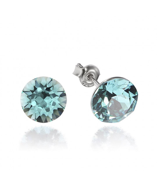 Earrings Xirius, Light Turquoise, 8 mm