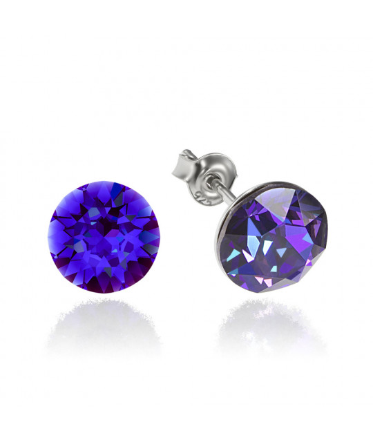 Earrings Xirius, Heliotrope, 8 mm