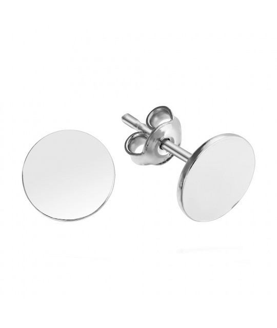 Earrings Round, 8 mm