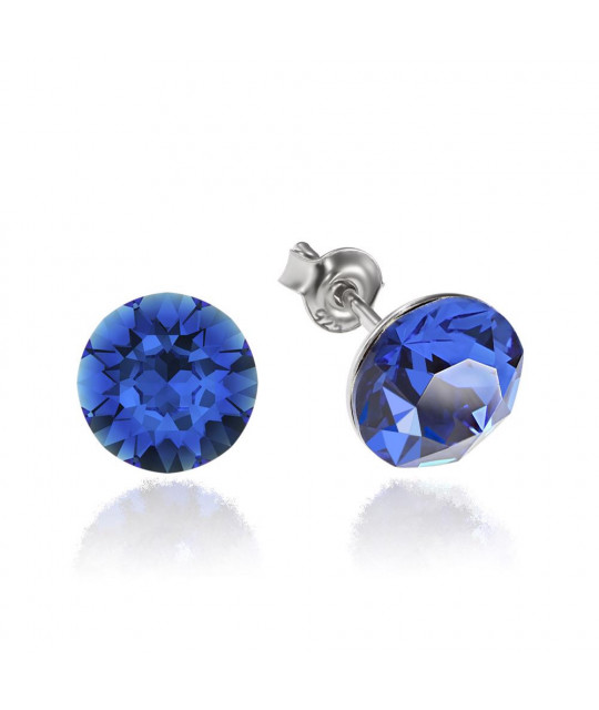 Earrings Xirius, Blue Capri, 8 mm