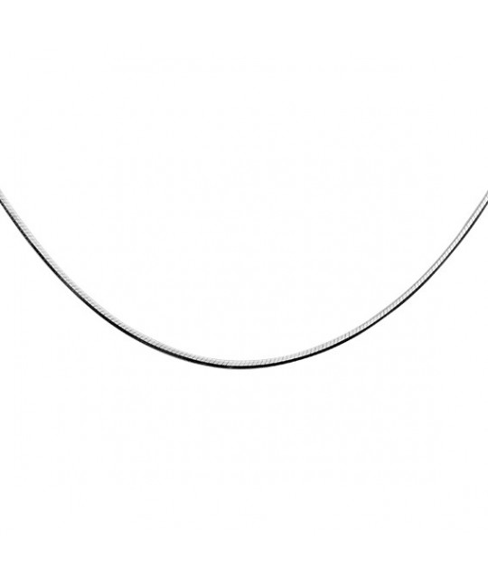 Silver chain, 8 sides Snake, 40сm, Ø15