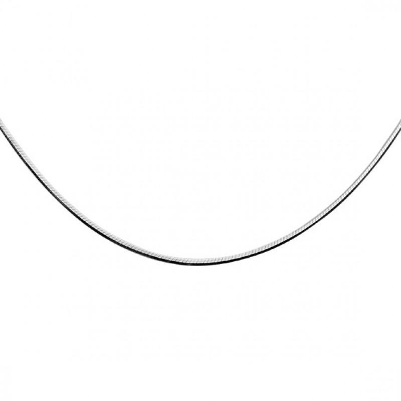 Silver chain, 8 sides Snake, 40сm, Ø20