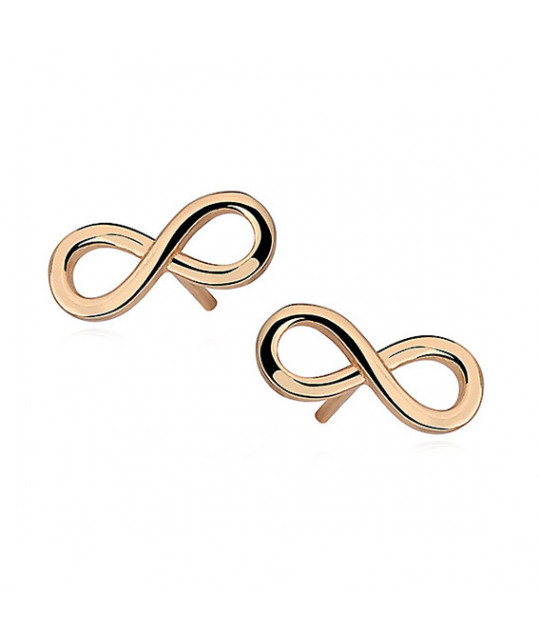 Silver earrings, Infinity gold-plated