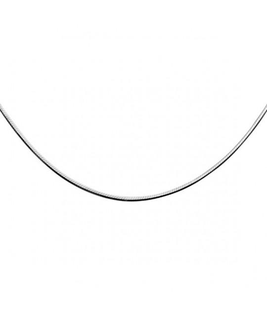 Silver chain, 8 sides Snake, 42сm, Ø15