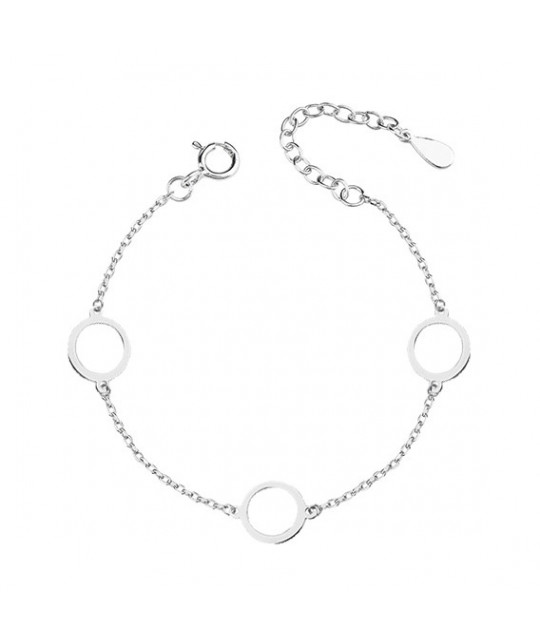 Silver bracelet, three circles