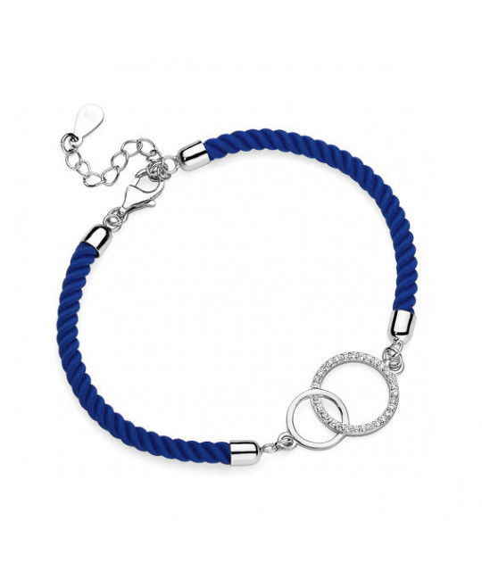 Dark blue bracelet, Circles