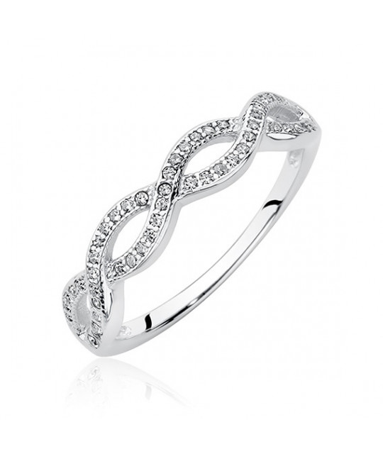 Silver ring with zirconia, EU-14