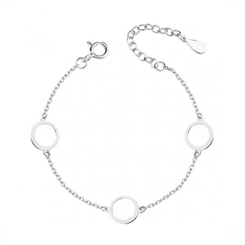 Silver bracelet, three circles
