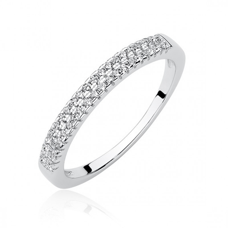Silver ring with zirconia, EU-13