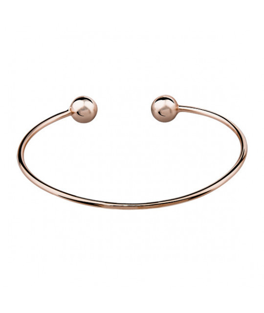 Silver bracelet, rose gold-plated