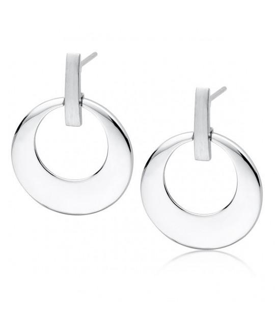 Apvalūs sidabriniai auskarai, Elegantiški