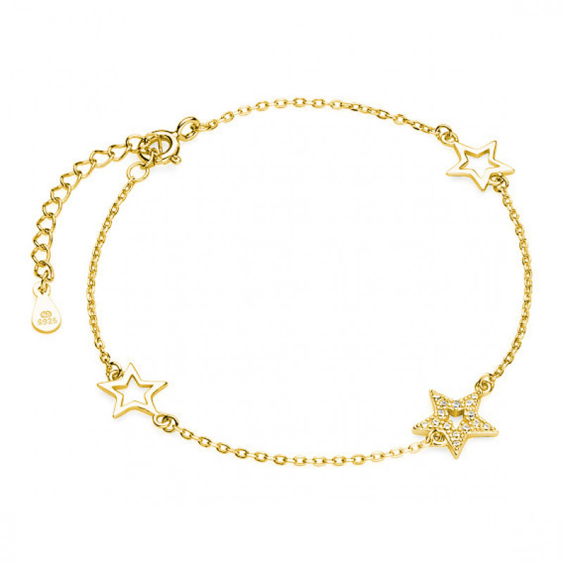 Gold plated silver bracelet, Stars