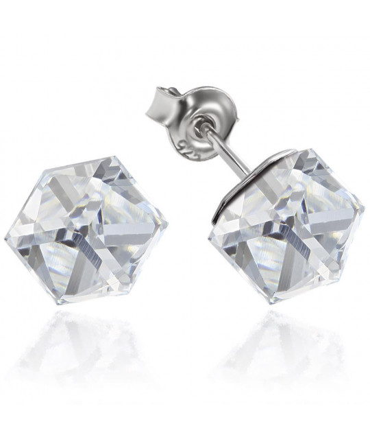 Earrings Cubic, Comet Argent Light