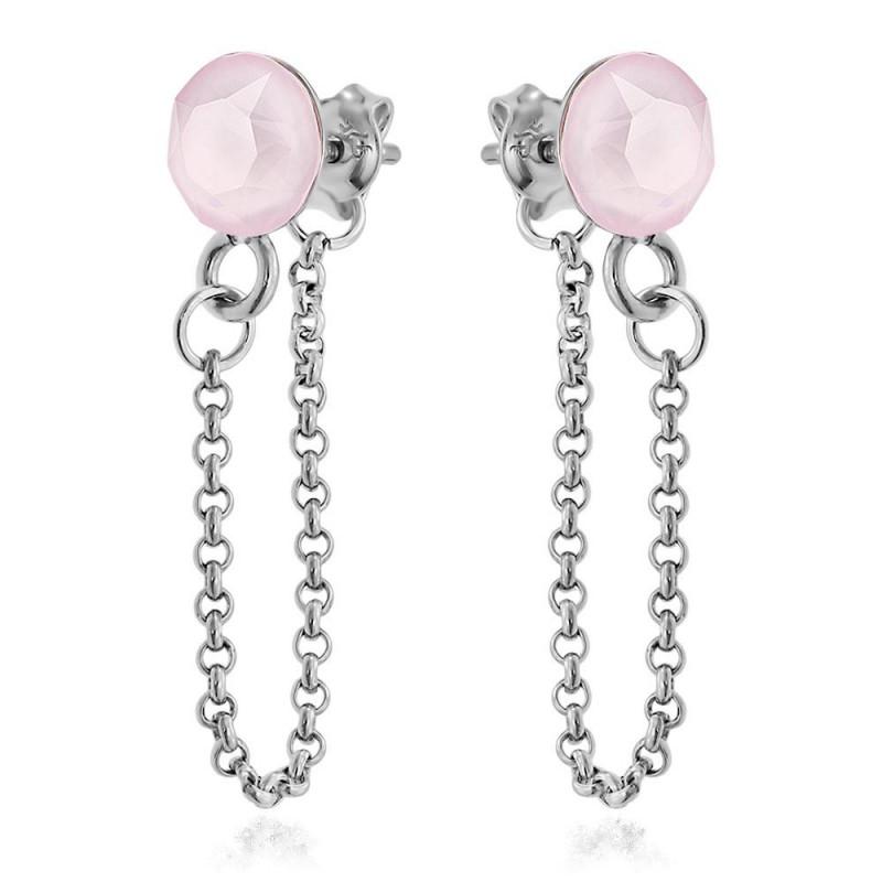 Earrings Xirius Chain, Powder Rose