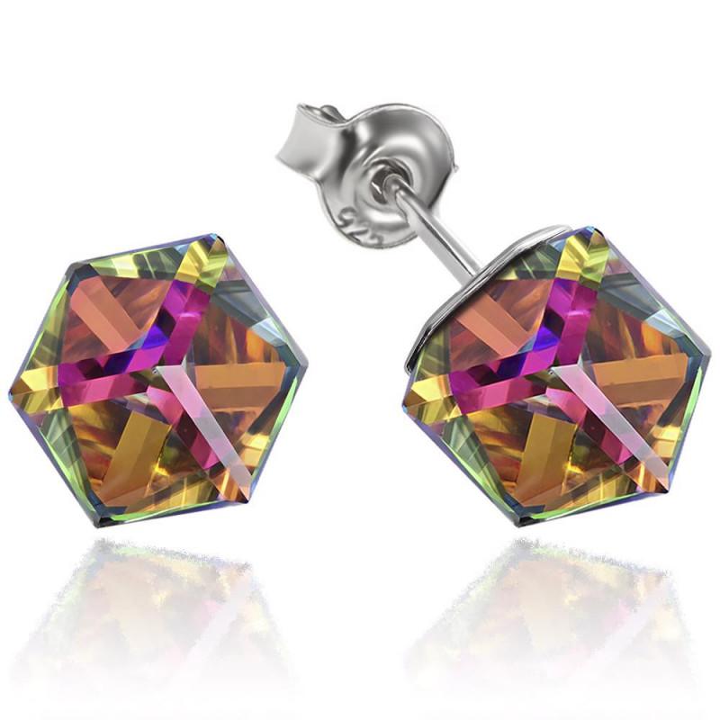 Earrings Cubic, Vitrail Medium