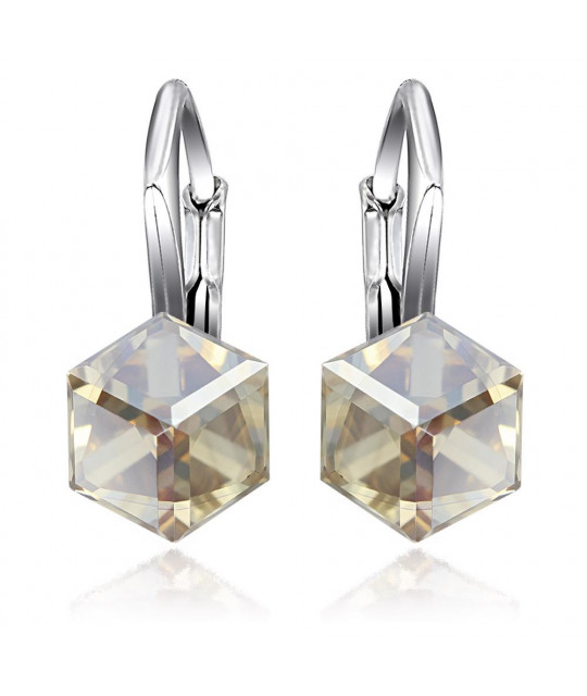 Earrings Cubic, Golden Shadow