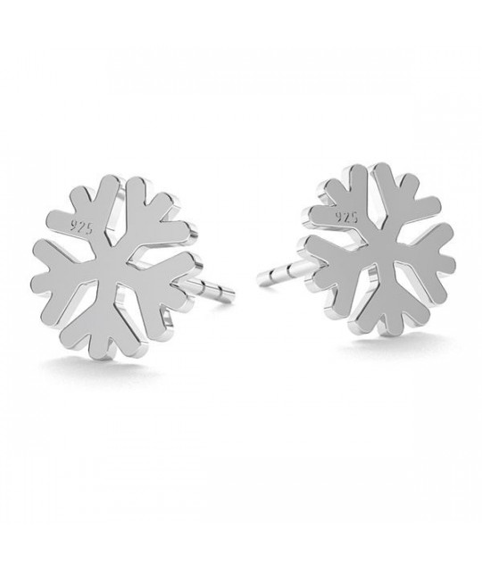 Silver earrings, Snow Flake