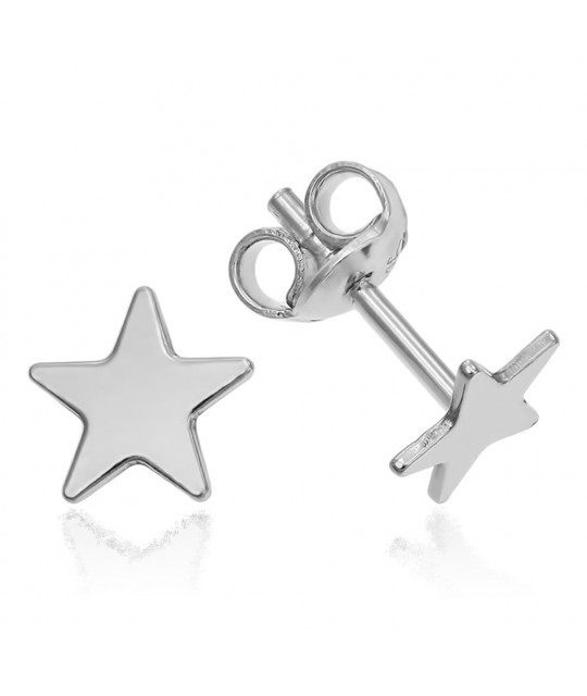 Silver earrings, Star