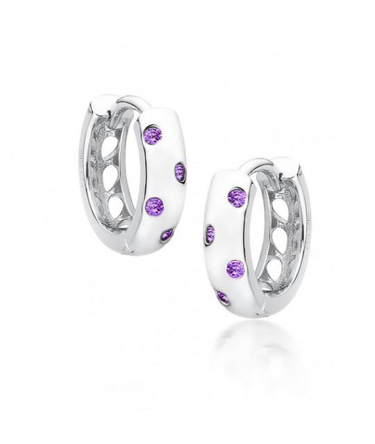 Sidabriniai auskarai, Žiedas su violetiniais cirkoniais