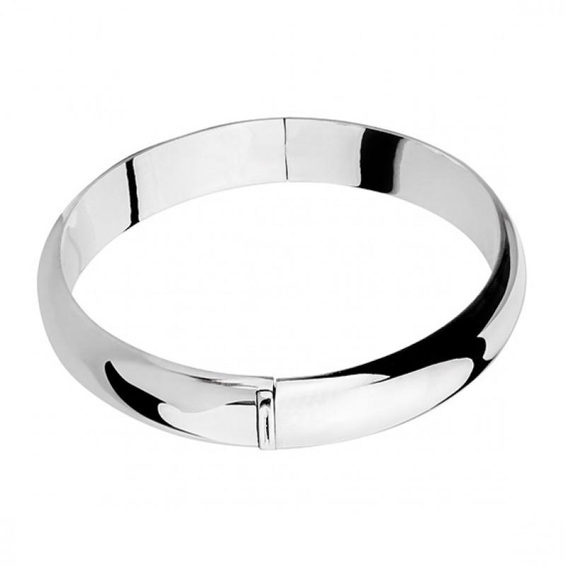 Silver oval bangle