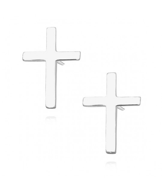 Silver earrings, Crosses