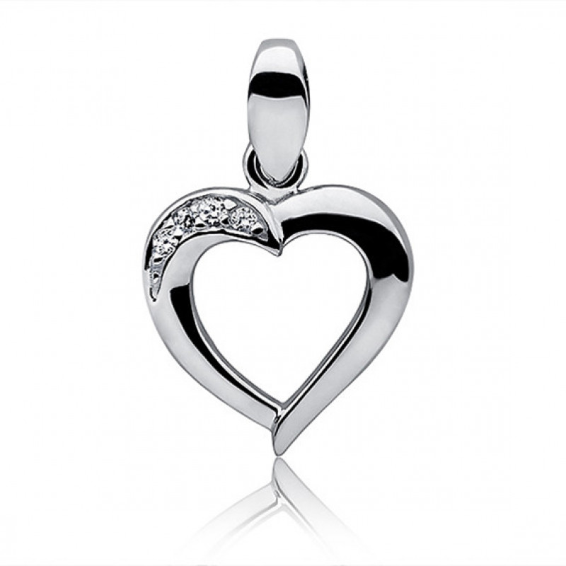 Silver pendant Heart, 13mm