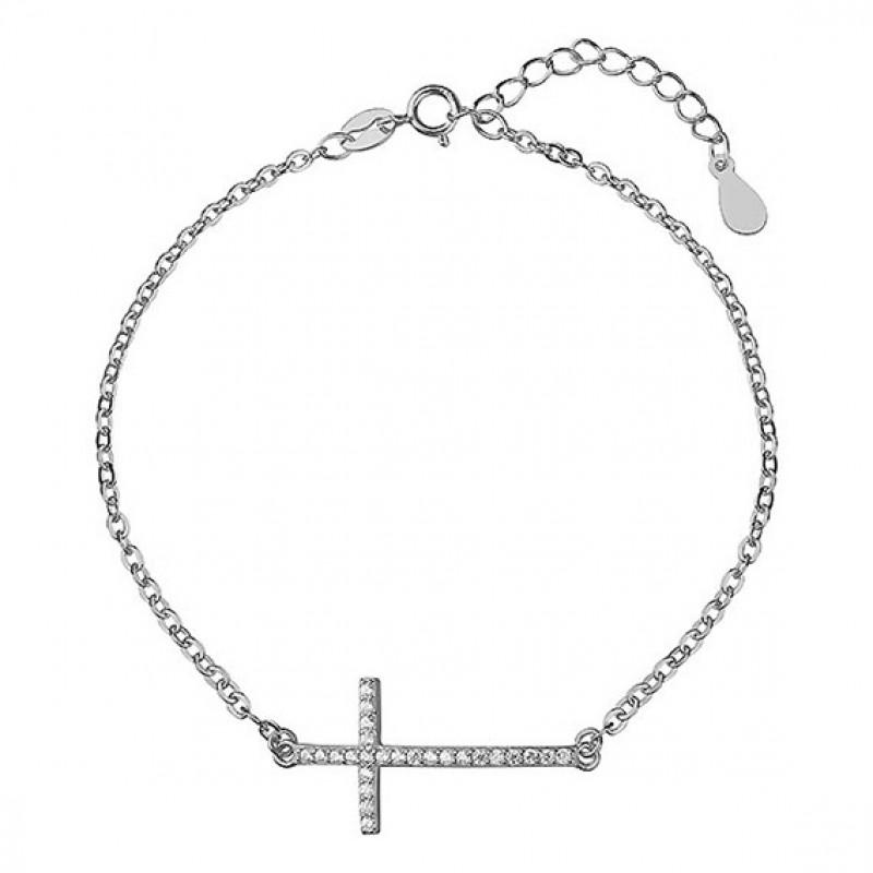Silver bracelet, Cross