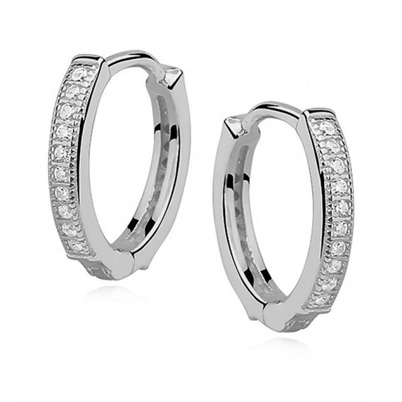 Silver earrings, Hoop