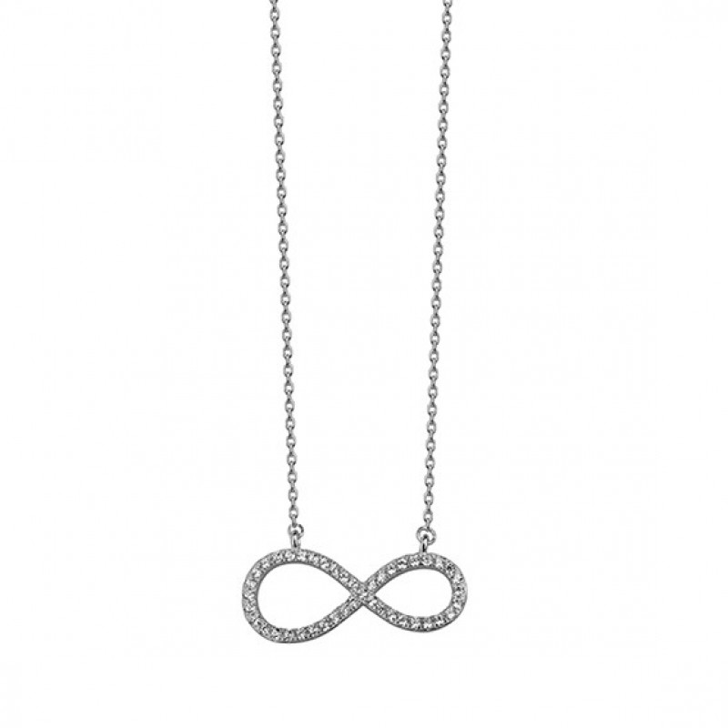 Silver necklace Infinity, 42-45 cm