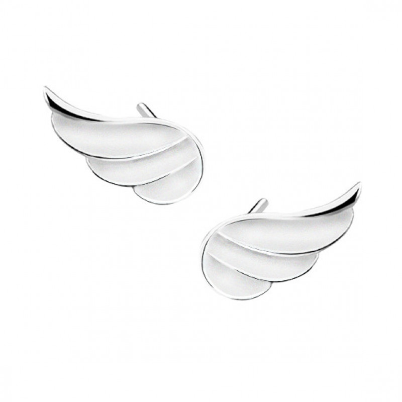 Silver earrings, Wings