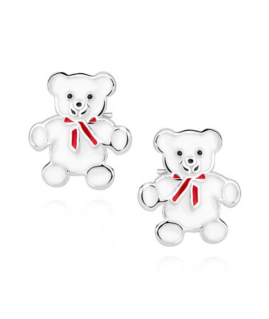 Silver earrings, Teddybears