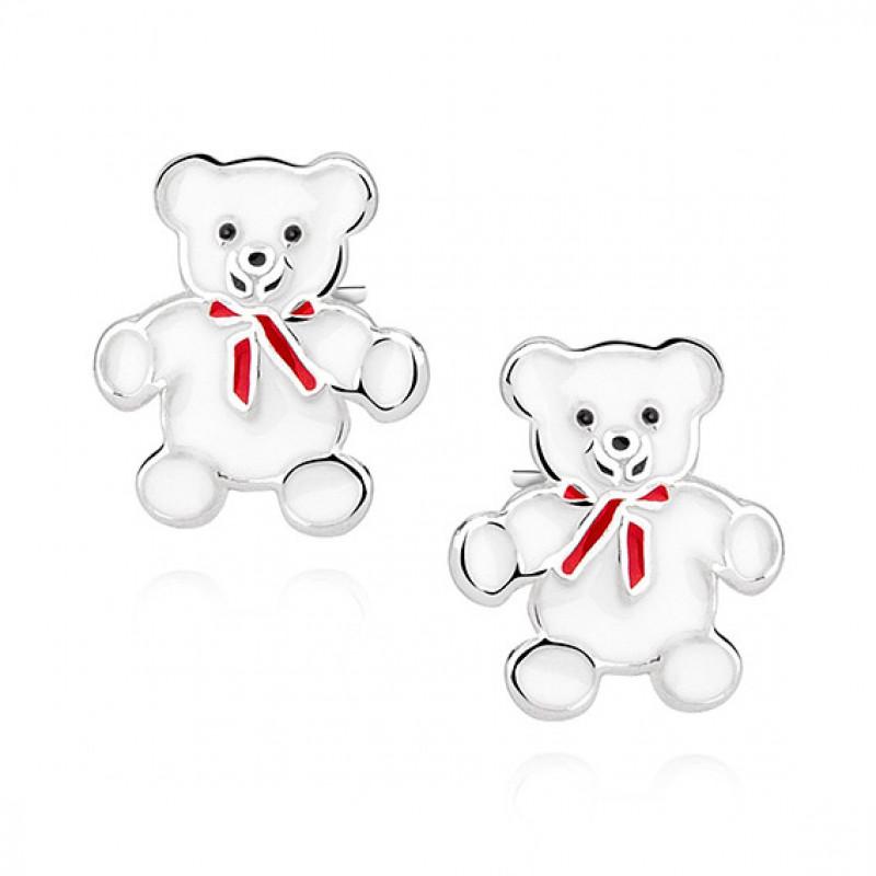 Silver earrings, Teddybears