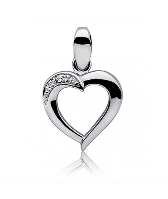 Silver pendant Heart, 13 mm