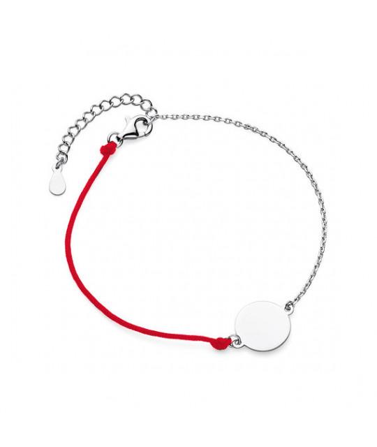 Silver bracelet, Circle