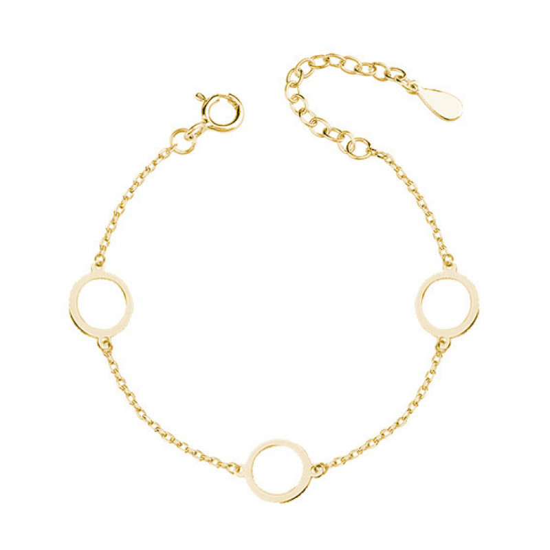 Gold-plated silver bracelet, Three circles