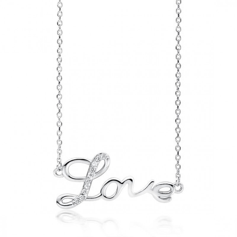 Silver necklace, Love