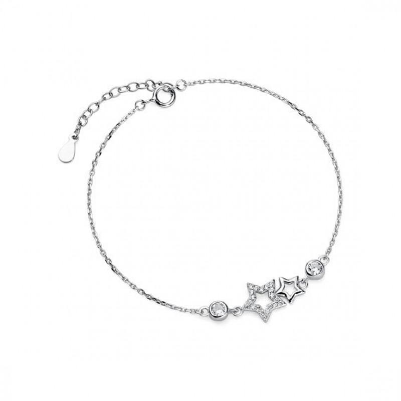 Silver bracelet with stars