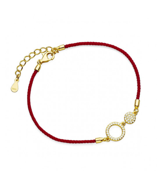 Gold-plated silver bracelet, Circles